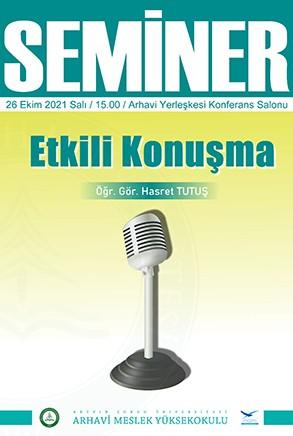 Seminer: Etkili Konuşma