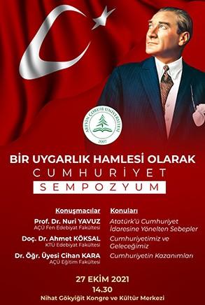 """Sempozyum: """"Bir Uygarlık Hamlesi Olarak Cumhuriyet"""""""